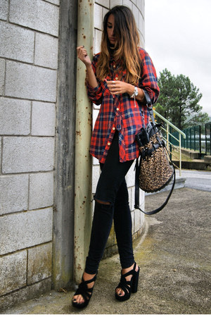 Red Flannel Zara Shirts Black Office Shoes Quot Woodcutter