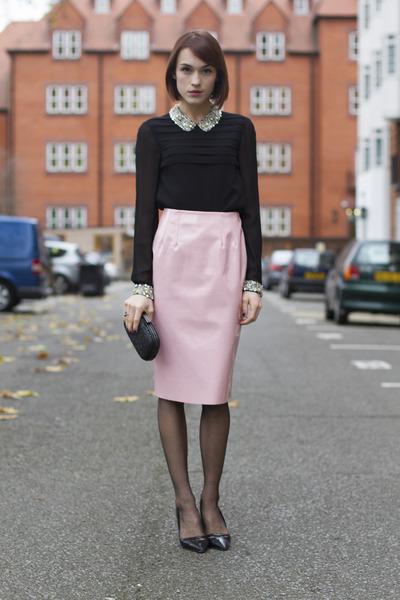 PVC Pencil Skirt: After Dark