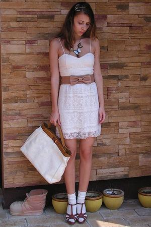 Pink Newyorker Dresses Beige Custom Made Belts Beige