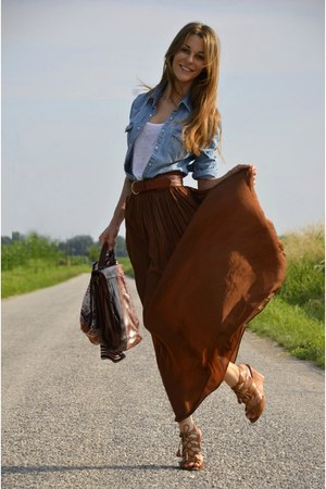 Brown long skirt – Modern skirts blog for you