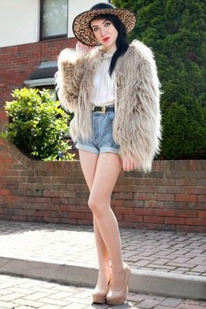 Faux Fur Zara Jackets Leopard Print Asoscom Hats Vintage