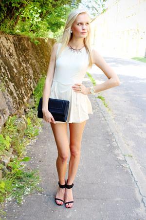 Black H Amp M Bags Black Zara Heels White Sheinside Rompers