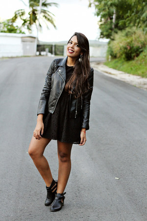 Black Ankle Boots Black Lace H Amp M Dresses Black Leather H