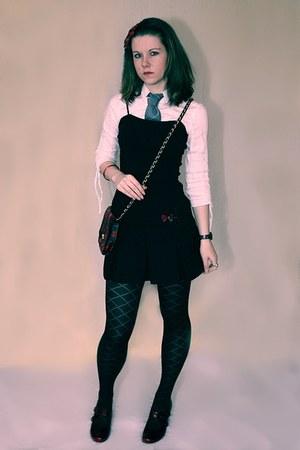 Dark Red Shoes Black Pimkie Dresses Black F Amp F Tights