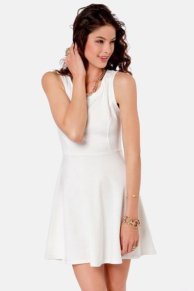ivory LuLus dress