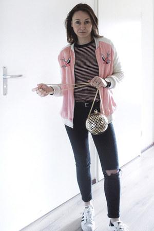 Bubble Gum Satin Bomber Zara Kids Jackets Black Petite