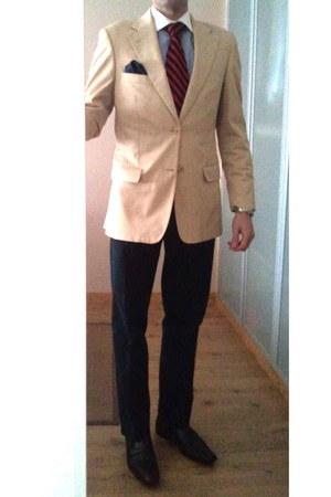 Men S Navy Chinos Decenio Pants Camel Zara Blazers Light