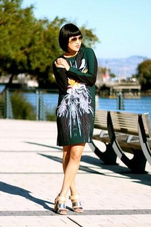Silk Clover Canyon Dresses, Silver Aviator Rays, Ban ...