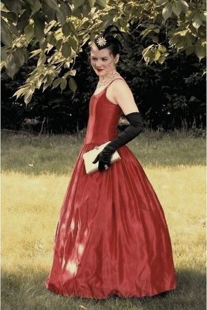 Red Gunne Sax Vintage Dresses Black Vintage Gloves
