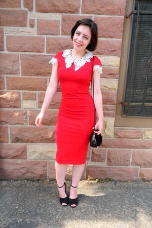 Red Bodycon Lydia Bright Dresses Black Studded Zara Heels