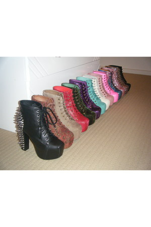 black lita jeffrey campbell boots brick red lita jeffrey campbell boots my lita collection. Black Bedroom Furniture Sets. Home Design Ideas