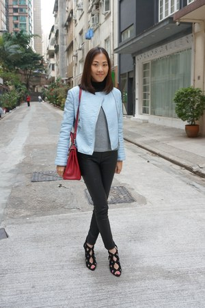 Ruby Red Kelly Bag Hermes Bags, Light Blue Leather Jacket Zara ...