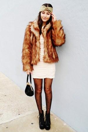 Burnt Orange Faux Fur H Amp M Coats Eggshell H Amp M Dresses