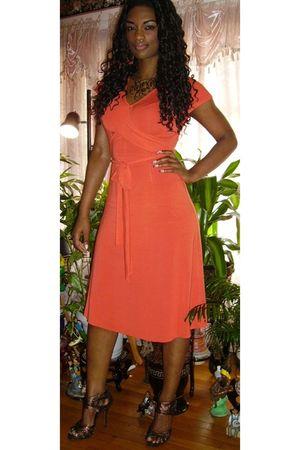 Orange Wrap Banana Republic Dresses Brown Stiletto Bumper