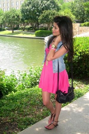 Light Blue Denim Vest H Amp M Vests Hot Pink Summer Dress H Amp M