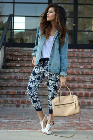 Denim Oversized Topshop Jackets Navy Forever 21 Pants