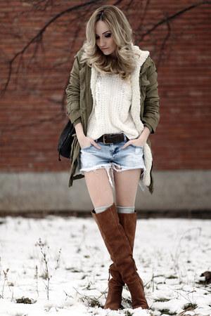 Tawny Bershka Boots Olive Green Mango Jackets White Zara