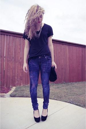 DIY Galaxy Jeans Jeans Black Bamboo Wedges   u0026quot;DIY Galaxy ...
