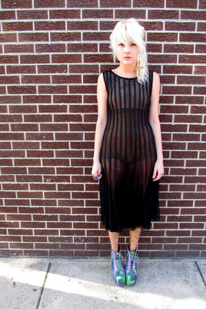 Black Sheer Some Velvet Vintage Dresses Green Jeffrey