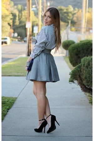 heather gray hm skirts white forever 21 shirts blue
