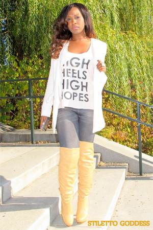 neutral thigh high bakers boots charcoal gray jeggings