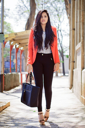 Carrot Orange Promod Blazers Periwinkle Promod Shirts