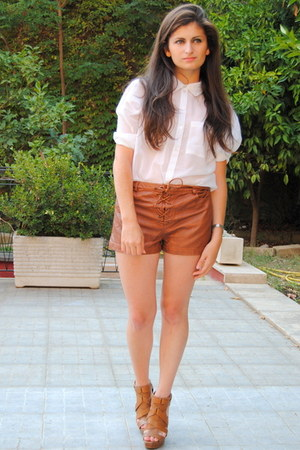 Burnt Orange Zara Sandals Burnt Orange H Amp M Shorts White