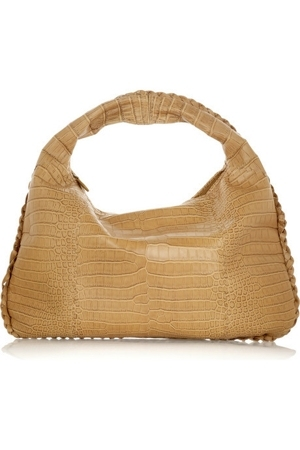 Bottega Veneta - Large Veneta crocodile bag  :  tan bag accessories clutch