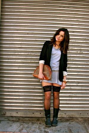 Black Target Blazers Gold Vintage Belts Black Stockings