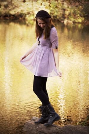 light purple lovely dahlia dresses black dsw boots