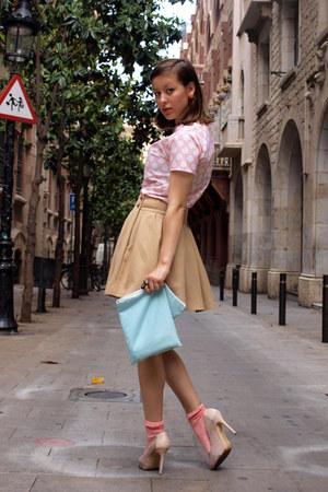 Light Blue Diy Bags Pink H Amp M Socks Camel Zara Skirts