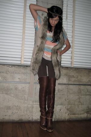 Brown Night Cap Clothing Leggings, Blue Vintage Shirts ...