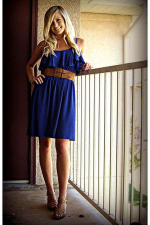 blue dresses brown shoes brown belts quot windblown quot by
