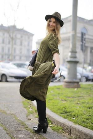 Olive Green Asos Dresses Black Zara Boots Olive Green