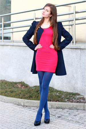 Navy BB Fashion Coats Hot Pink Asos Dresses Blue Tights Black Embis Pumps | u0026quot;Colorful ...