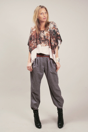 black boots gray brown tops quot trousers quot by