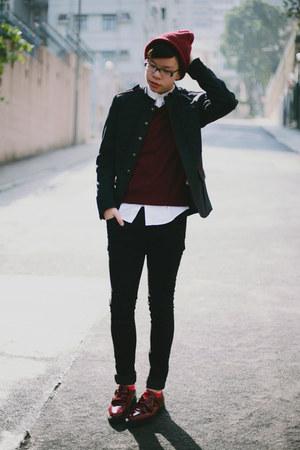 Men S Black H Amp M Jeans Brick Red Asos Hats Dark Gray Zara