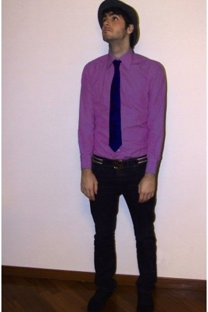 Men 39 s vintage shirts gucci belts h m pants hugo boss for Ties that go with purple shirts