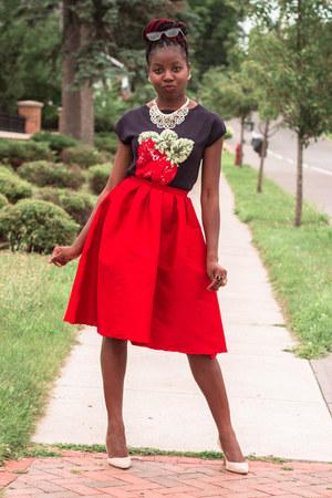 navy strawberry talbots tops midi ebay skirts beige