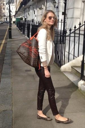 Zara Blazers Zara Pants French Sole Flats Quot Brown Faux