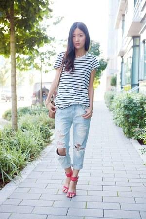 Light Blue Jeans Black Tops Red Zara Heels Quot Distressed