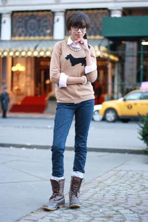 JCrew Sweaters, LL Bean Boots