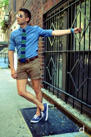 Menu0026#39;s Green The Tie Bar Ties Sky Blue Esprit Shirts Light Brown Club Monaco Shorts   u0026quot;Young at ...