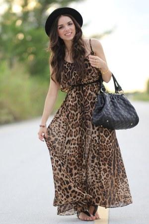 Brown Leopard Romwe Dresses Black Forever 21 Hats Black