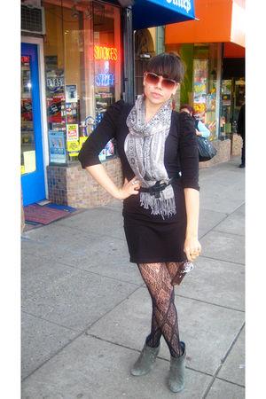 Black H Amp M Dresses Black Target Tights Gray Me Too Boots