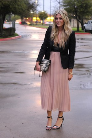 Light Pink Chrome Dresses Black Forever 21 Blazers Black