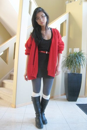 Black Sweater Boots