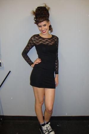 black h m dresses black converse shoes blue topshop