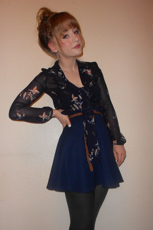 Navy Schoolgirl TK Maxx Skirts, Ribbed Tights, New Look ...