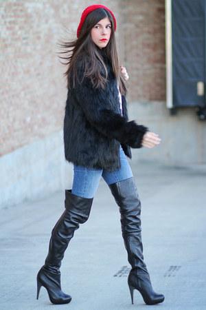Faux Fur Asos Coats Over The Knee Topshop Boots Quot Pretty
